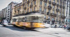 Milano tramspotting (Henka69) Tags: tram streetcar milano corsobuenosaries motion movement city cityscape