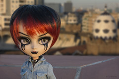 """""""Traveling allows you to escape from the daily routine, from the fear of the future"""" #52dollyweekproject (Erla Morgan) Tags: doll pullip pullipcustom custom emily 52dollyweekproject erlamorgan groove junplanning chips bullring barcelona travel traveling light dusk suturaworkshop nepenthe"""