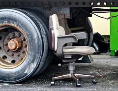 chair (muffett68 ☺☺) Tags: ansh scavenger15 achairinanunexpectedplace unexpected chair emptychair outside intherain