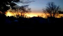 Neighborhood sunset! (Maenette1) Tags: sunset neighborhood houses trees sky menominee uppermichigan flicker365 52weeksofphotographyweek19