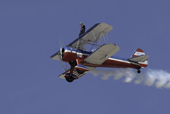 On top of the Pratt and Witney (dcnelson1898) Tags: 2017mcasyumaairshow yuma arizona desert winter mcasyumaairshow planes outdoors gregsheldonairshows 450superstearman biplane wingwalker patriotic aviation