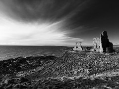 RUSH (Jamie_Brannan) Tags: iphone iphone6s castle ruins coast sea landscape seascape mono monochrome monochromatic bw blackwhite black white sky skyporn cloud cloudporn fife scotland cliff history historical