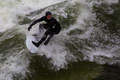 Surfing Eisbach-München (olijaeger) Tags: surfing surfer water wasser welle river fluss city munich münchen wave wassersport sports sport eisbach eisbachwelle actionsports green ripcurl