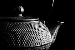 Cast iron teapot (hendersonrees.photography) Tags: sony a6000 teapot tea low key blackandwhite bnw black white light lighting mono monochrome studio pattern texture shape abstract tamron 2870mm macro upclose