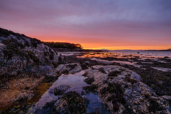 Craignure Sunrise (John fae Fife) Tags: rockpools fujifilmx scotland rocks xt1 shore craignure isleofmull sunrise mull