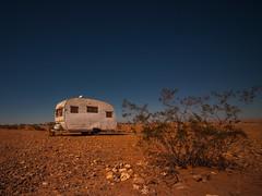 a stone's throw (Jo-H) Tags: camper desert nevada retro vintage americanwest sky solitary