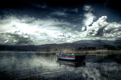 The boat on the lake (Merk Dim) Tags: nature pentax pentaxlife pentaxk30 stop k30 kmount life greece thessaloniki grass plant outdoor landscape depth field texture macedoniagreece makedonia