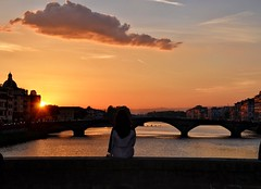 Firenze, Lungarno al tramonto ⚜️ (renatolobuono) Tags: diamondclassphotographer sunset sunrise tramonto tuscany toscana italy italia florence firenze