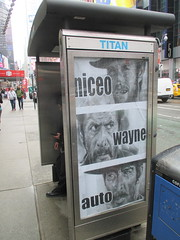 Niceo Wayne Auto Movie poster Graffiti art 4641 (Brechtbug) Tags: niceo wayne auto graffiti movie poster art from 1966 film the good bad ugly with clint eastwood eli wallach lee van cleef posters sidewalk phone booth 7th avenue near 34th street midtown nyc 2017 04202017 new york city profile design films movies cowboy western st ave streets niceos criminal minded guerilla ads cover manhattan culture jamming bombing since 1977 mass appeal reports same