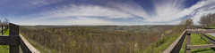 Springtime Scenic View, 2017.04.28 (Aaron Glenn Campbell) Tags: highknoboverlook dryrunroad loyalsockstateforest muncyvalley hillsgrovetownship sullivancounty pennsylvania 5xp stitched pano panorama spring rural country outdoors vista overlook scenic view nikcollection viveza colorefexpro sony a6000 ilce6000 mirrorless rokinon 12mmf2ncscs wideangle primelens manualfocus emount