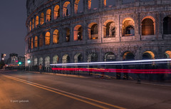 COLOSSEUM (pietkagab) Tags: colosseum rome italy italian roman architecture longexposure traffic trails light illuminated road europe pietkagab photography pentax piotrgaborek pentaxk5ii ancient unesco monument heritage history historical travel trip tourism sightseeing sight city color