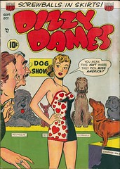 Dizzy Dames (kevin63) Tags: lightner internetarchive magazine cover women girl lady humor comicbook forties 40s old vintage goldenage antique retro politicallyincorrect dogshow beautycontest blonde swimsuit dizzy dames screwballsinskirts dogs