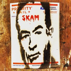 """""""And guys, if you exploit a girl, it will come back to get you.That's called karma."""" Bill O'Reilly 2004.  I did this Bill O'Reilly stencil 10 years ago. Looks like the times have finally caught up to all these skams. Milo Yiannopoulos, Tomi lahren, Alex J (SKAM sticker) Tags: instagramapp square squareformat iphoneography uploaded:by=instagram lark"""