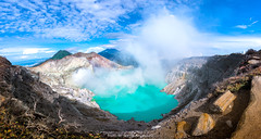 TURQUOISE LAKE OF KAWAH IJIEN (::: a j z p h o t o g r a p h y :::) Tags: volcano ijien crater travel traveldestination lake turquoise mountain hiking smoke sky nature rock indonesia landscape panorama
