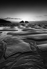 Beach Contours, Holywell Bay, Cornwall (Mick Blakey) Tags: shoreline sand tidal reflectitons seashore contours holywellbay receding moody sea shadows vista peace monochrome solitary twilight sky cornwall white tranquil cornish cliffs black blackwhite clouds highlights tranquility tide coastline solitude coastal serene peaceful reflection restful seascape shore coast contrast silhoette