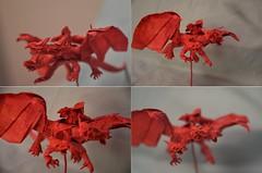 Dragon Rider by ob猫~ (Nikita Vasiliev) Tags: origami paper paperart dragon rider threeheaded horns wings dragonrider ob猫~ claws
