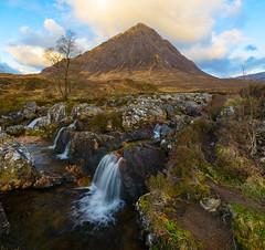The Beuckle (Explored...) (Joe Hayhurst) Tags: 2017 d610 highlands joehayhurst nikon scotland bauchailleetivemor mountain dawn sunrise morning waterfall river cascade glencoe buachaille etive mor buachailleetivemor