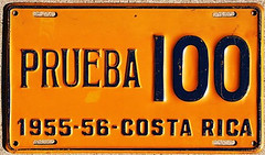 Costa Rica prueba * (sixes & sevens) Tags: costa rica license plates 1956 cr licenseplates notmyplate