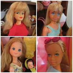 (5) Flea Market Purchases (Foxy Belle) Tags: family blue baby sun sunshine misty vintage mom fun 1982 doll market barbie skipper malibu bikini german blonde suntan 1978 ideal flea miss reproduction steffie lovin repro poseable clairol