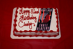 HAPPY BIRTHDAY CINDY (dela7) Tags: birthday red cindy cake yummy chocolate raspberry icing filling blazers duc678