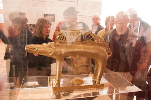 A Gallic sign in brass - a copy