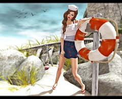 Anchors Aweigh (Mikaela Carpaccio - 6º Republic Event) Tags: beach landscape marine truth ufo boom sailor decor pekka c88 ncore izzies pfpinkfuel collabo88 dmdelmay thearcadegachaevents