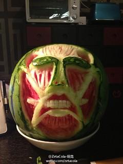 冰箱裡的巨人!「進擊的西瓜」!!!