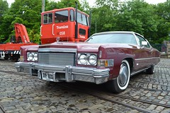 1974 Cadillac Eldorado Generation Eight  SYP 183S (Paul D Cheetham) Tags: rock museum village weekend tracks n tram roll cobbles trams tramway crich