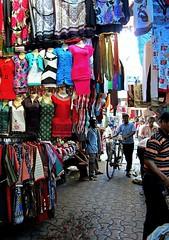 The Ladies Department (rita banerji) Tags: india streets colour panties market sale labor bra clothes business labour vendor economy salwar kurta pavements migrant underclothes womensclothing churidar