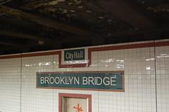 Brooklyn Bridge City Hall (koborin) Tags: nyc newyorkcity travel ny newyork subway metro cityhall manhattan brooklynbridge nycmetro
