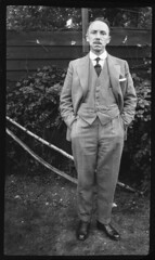PIC-083-700 (jrockar) Tags: 1920s england people blackandwhite bw man west building century vintage mono 1930s south scan retro east negative beginning medium format 20 1910s essex 20th 1900s throwbackthursday