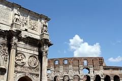 475. The Arch of Constantine and The Colosseum, Rome. Italy. 10-Aug-13 (paulfuller128) Tags: italy holiday rome roma florence scenery italia vespa roman tuscany firenze siena cortona ilrondo