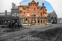 Now & Then (Stephen Whittaker) Tags: road new old white black colour green corner liverpool photoshop vintage swan pub nikon retro lane tavern thecornertavern d5100 whitto27 prsecot