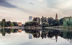 (Samut81) Tags: longexposure lake reflection finland helsinki olympus filter nd voigtlnder 25mm genus f095 omdem5