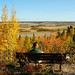 Salt Plains Lookout sitting autumn scene