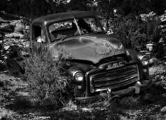 GMC (arbyreed) Tags: old bw abandoned vintage pickuptruck forgotten gmc generalmotors blackandwhtie arbyreed oldrustypickup duchesnecountyutah