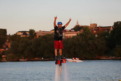 Mike 1st time on Flyboard. (m2 Photo) Tags: madison mendota flyboard