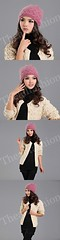 HW-0003-หมวกไหมพรมโครเชต์ลายละเอียดใส่กระชับศีรษะและใบหูอบอุ่นเรียบหรูมีสไตล์-สีชมพู