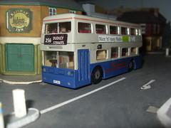 Fleetline 6687  NOC 687R (Bandsman1) Tags: bus model matchbox daimler fleetline westmidlandstravel diecast dms repaint code3 oogauge 176scale counbourne
