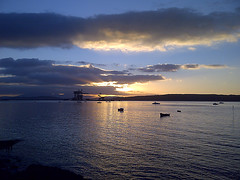 Clyde-201310-2-Sunsetting (Tony J Gilbert) Tags: scotland clyde marine underwater diving largs underwaterphotography largsmillport