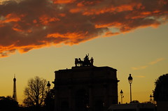 Sunset on the Carousel - Paris