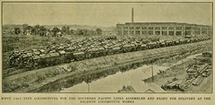 photo of  50 locomotives for Southern Pacific RR at the Baldwin Plant. (over 21 MILLION views Thanks) Tags: railroad trains sp 1922 baldwin southernpacific steamlocomotives 2102 prosperityspecial