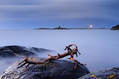 Untitled (masthy) Tags: longexposure sea lighthouse norway dawn rocks view stick homborsund grimstad austagder canonef24105mmf4lisusm canoneos6d homborsundfyr kalvehageneset