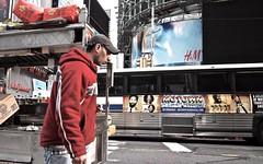 New York, 2013 (gregorywass) Tags: street city red urban newyork walking manhattan broadway midtown timessquare hm walgreens motown