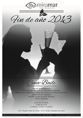 Cartel de la cena-fiesta fin de año 2013