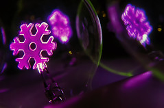 Purple Snowflakes (hbmike2000) Tags: snowflake christmas light holiday glass electric bulb night nikon glow purple christmaslights christmasdecoration d200 hdr filament dutchangle hcs clichesaturday hbmike2000 flickr12days