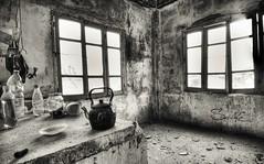 Full of Emptiness (Sulafa) Tags: windows blackandwhite bw house abandoned nikon syria abandonment tartous     nikond7000