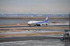 Boeing 747-400 (yuki_alm_misa) Tags: haneda airplane 東京国際空港 航空機 tokyointernationalairport 羽田空港 羽田 rjtt hnd plane aeroplane 飛行機 747400 boeing ボーイング 747 b747 b747400 aircraft airport tokyo
