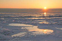Crushed Ice (player_pleasure) Tags: winter chicago reflection ice sunrise canon frozen lakemichigan chicagoist 70d