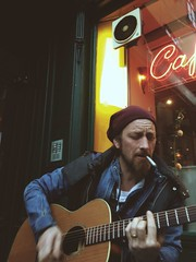 Indie Band in Front of Caf Raimund (Cal Rapid) Tags: vienna music color vintage beard photography photo cafe cool flickr photos guitar pics hipster band culture pic pirate indie session carlo coolio jam indiemusic iphone photooftheday mariahilferstrasse 1060 indieband tumblr vsco iphonography iphoneography vscocam uploaded:by=flickrmobile flickriosapp:filter=nofilter vscogrid zappella